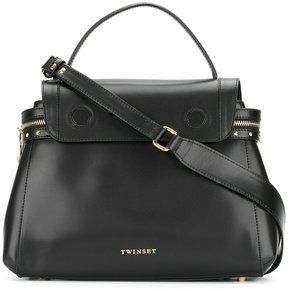 Twin-Set top flap tote bag