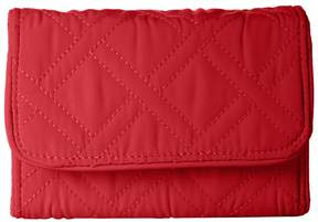Vera Bradley Rfid Riley Compact Wallet Wallet Handbags - CARDINAL RED - STYLE
