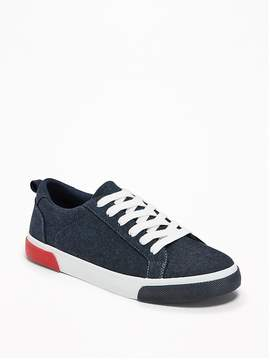 Old Navy Lace-Up Chambray Sneakers for Boys