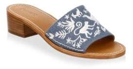 Soludos Otomi Denim Slides