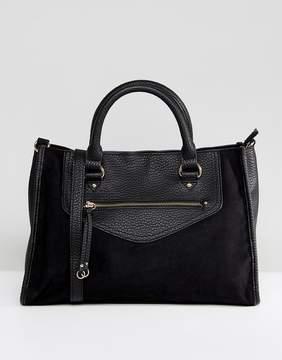 Asos DESIGN Tote Bag with Ring Pull Detail