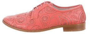 Jil Sander Leather Perforated Oxfords