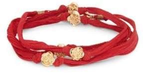 King Baby Studio Rose Beaded Wrap Bracelet