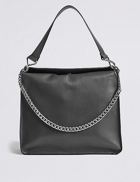 Marks and Spencer Faux Leather Chain Slouch Hobo Bag