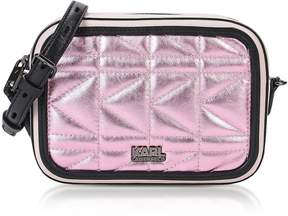 Karl Lagerfeld Metallic Pink K/kuilted Camera Bag