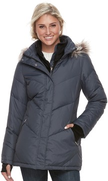 Free Country Women's Hooded Faux-Fur Trim Down Jacket