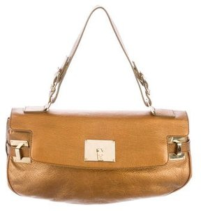 Lambertson Truex Metallic Leather Handle Bag