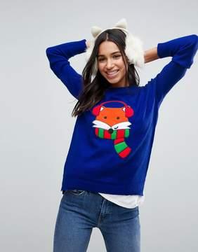 Brave Soul Foxy Holidays Sweater