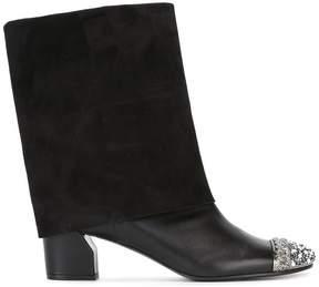 Casadei foldover toe cap boots