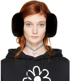 Miu Miu Black Fur Earmuffs