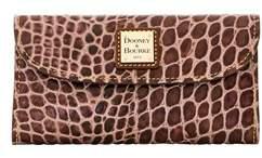 Dooney & Bourke Croco Fino Checkbook Organizer. - BLUE - STYLE