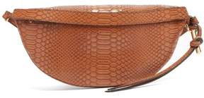 Stella McCartney Snake Effect Faux Leather Belt Bag - Womens - Tan