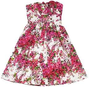 David Meister Floral Strapless Dress