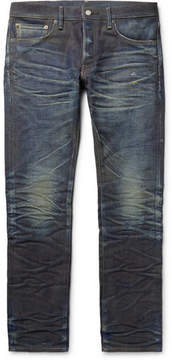 Co Fabric-Brand & Jacob Slim-Fit Distressed Selvedge Denim Jeans