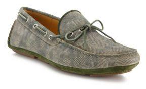 Aquatalia Blake Printed Leather Camo Driver Loafers