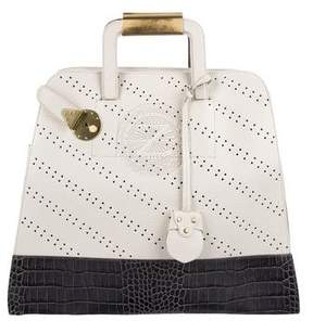 Zac Posen Perforated Leather Handle Bag