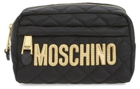 Moschino Quilted Logo Makeup Case