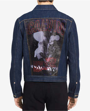 Calvin Klein Jeans Men's Graphic-Print Denim Jacket