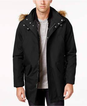 Cole Haan Men's 3-in-1 Lightweight Anorak with Faux-Fur Removable Hood