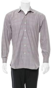Ovadia & Sons Glen Plaid Button-Up Shirt
