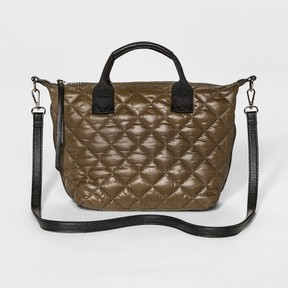 Mossimo Supply Co. Women's Small Quilted Nylon Tote Handbag - Mossimo Supply Co.
