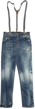Fred Mello Stretch Denim Jeans W/ Suspenders