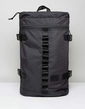 Asos Hiker Backpack in Gray Fine Check With Internal Laptop Pouch
