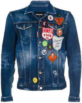 DSQUARED2 scout patch denim jacket