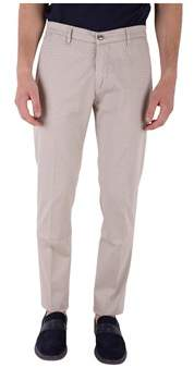 Re-Hash Men's Beige Cotton Pants.