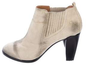 CNC Costume National Distressed Suede Ankle Boots