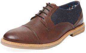 Ben Sherman Men's Leon Mixed Media Derby Shoe