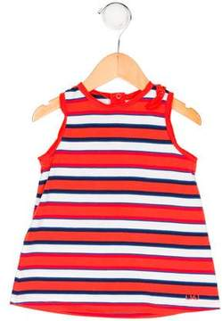 Little Marc Jacobs Girls' Striped Crew Neck Top