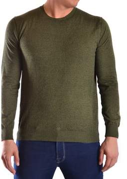 Hosio Men's Green Cotton Sweater.