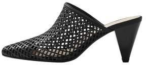MANGO Laser-cut heel mules