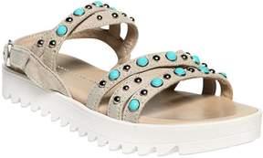 Ermanno Scervino Embellished Suede Sandals