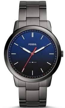 Fossil Men's Minimalist Slim Grey Steel Watch FS5377