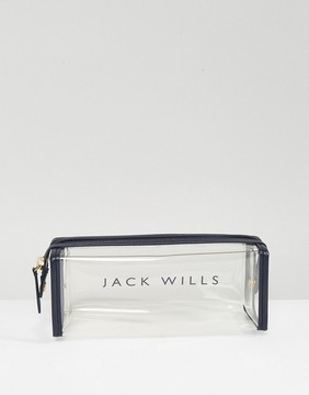 Jack Wills Swainswick Logo PVC Pencil Case