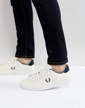 Fred Perry B2 Tennis Canvas Sneakers in White