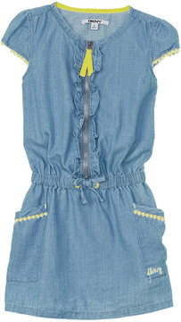 DKNY Girls' Ruffled Dress