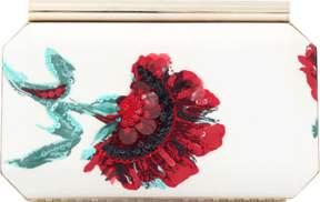 OSCAR DE LA RENTA Saya Embroidered Carnation Clutch