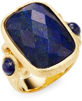 Rivka Friedman Women's 18K Gold Lapis Rectangle Ring