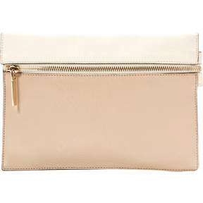 Victoria Beckham Beige Leather Clutch Bag