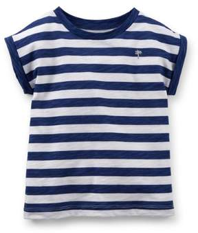Carter's Baby Clothing Outfit Girls Short Sleeve Navy Stripe Top