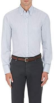 Brunello Cucinelli Men's Striped Cotton Twill Shirt