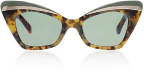Karen Walker Babou Cat-Eye Tortoiseshell Acetate and Metal Sunglasses