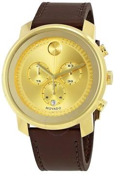 Movado Bold Gold Dial Chronograph Men's Watch