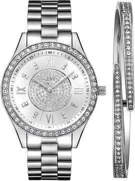 JBW Diamond Womens Silver Tone 2-pc. Watch Boxed Set-J6303-Seta
