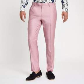 River Island Mens Pink skinny suit pants
