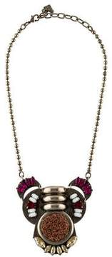 Dannijo Crystal & Resin Collar Necklace