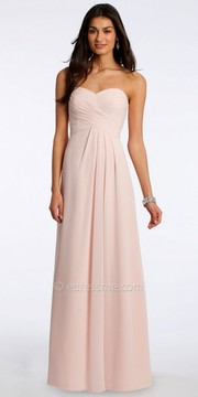 Camille La Vie Pleated Chiffon Strapless Evening Dress